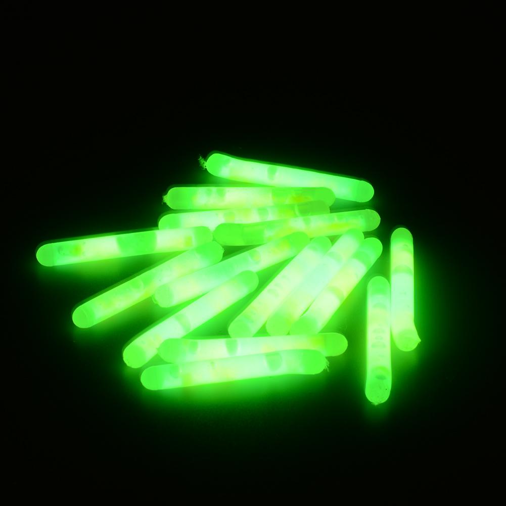 15pcs fishing fish fluorescent lightstick night float clip for Fishing glow sticks