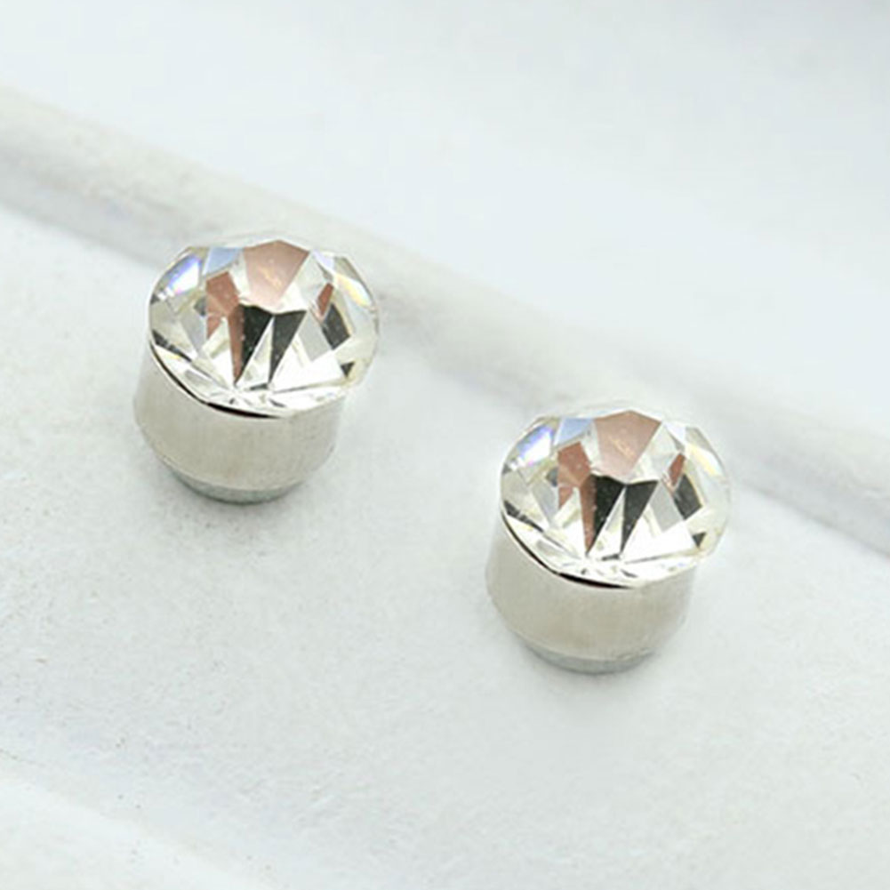 Chic Fashion Bar 6mm Pair Non Piercing Clip on Magnetic Ear Stud Fake Earrings