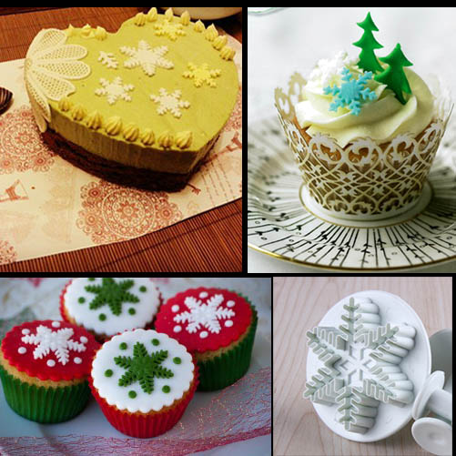 Christmas Cake Decoration Molds : Christmas Fondant Cake Decorating Cutter Mold Cookie Mould ...