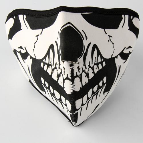 Snowboard Bike Motorcycle Skull Mask Half Face Skeleton
