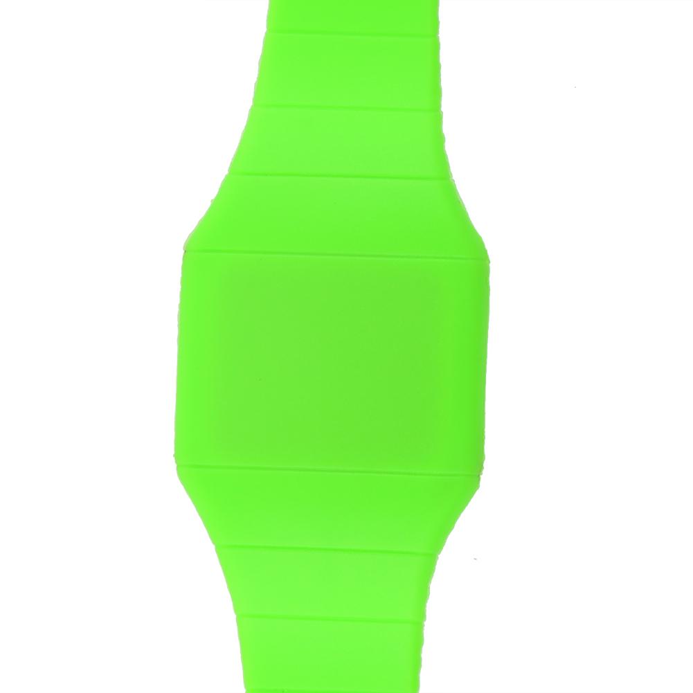 Thin Hidden Touch Screen Red LED Digital Watch Men Women Sport Wrist Watch