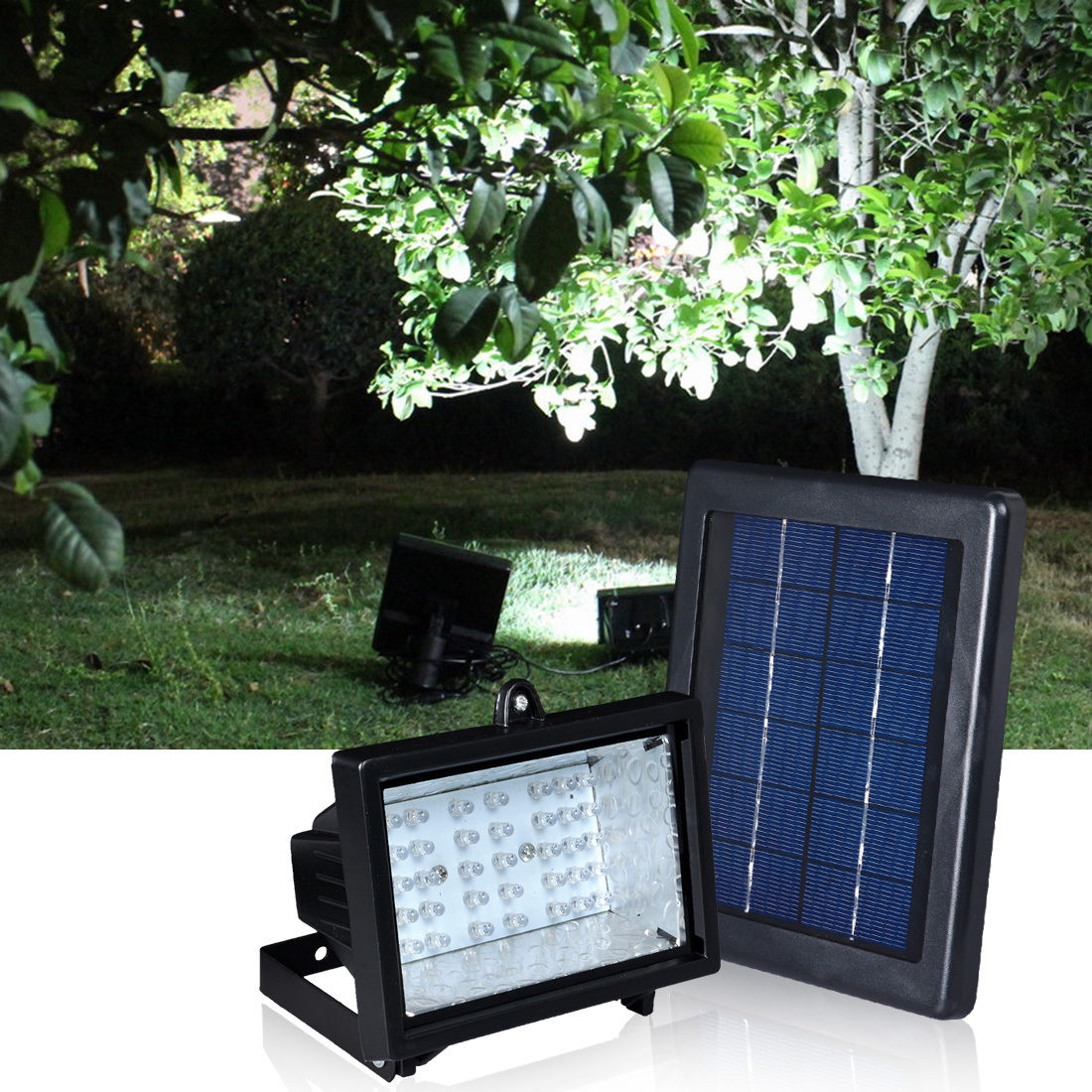 solar ultra bright 30 led outdoor garden spot flood light waterproof. Black Bedroom Furniture Sets. Home Design Ideas