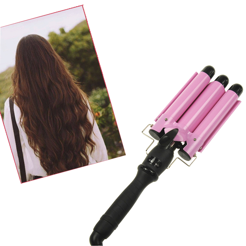 3 Barrel Pro Hair Curler Curling Spiral Iron Wave Wand