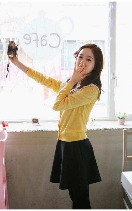 Womens High Waist Short Plain Flared Pleated Sheer Skater Fippy Mini Skirt
