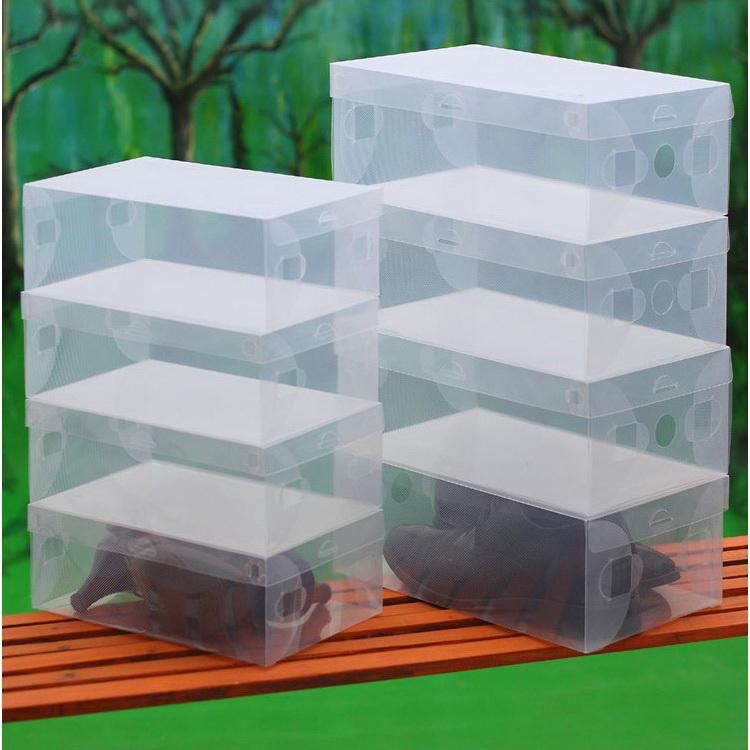Acrylic Shoe Boxes : Transparent clear plastic shoe boxes stackable