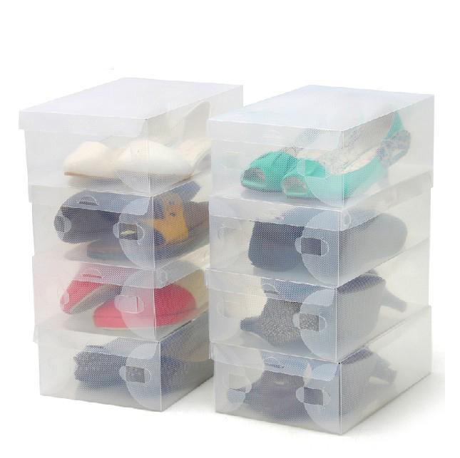 20x clear plastic shoe boxes transparent shoe organizer - Stackable 20desk 20organizer ...