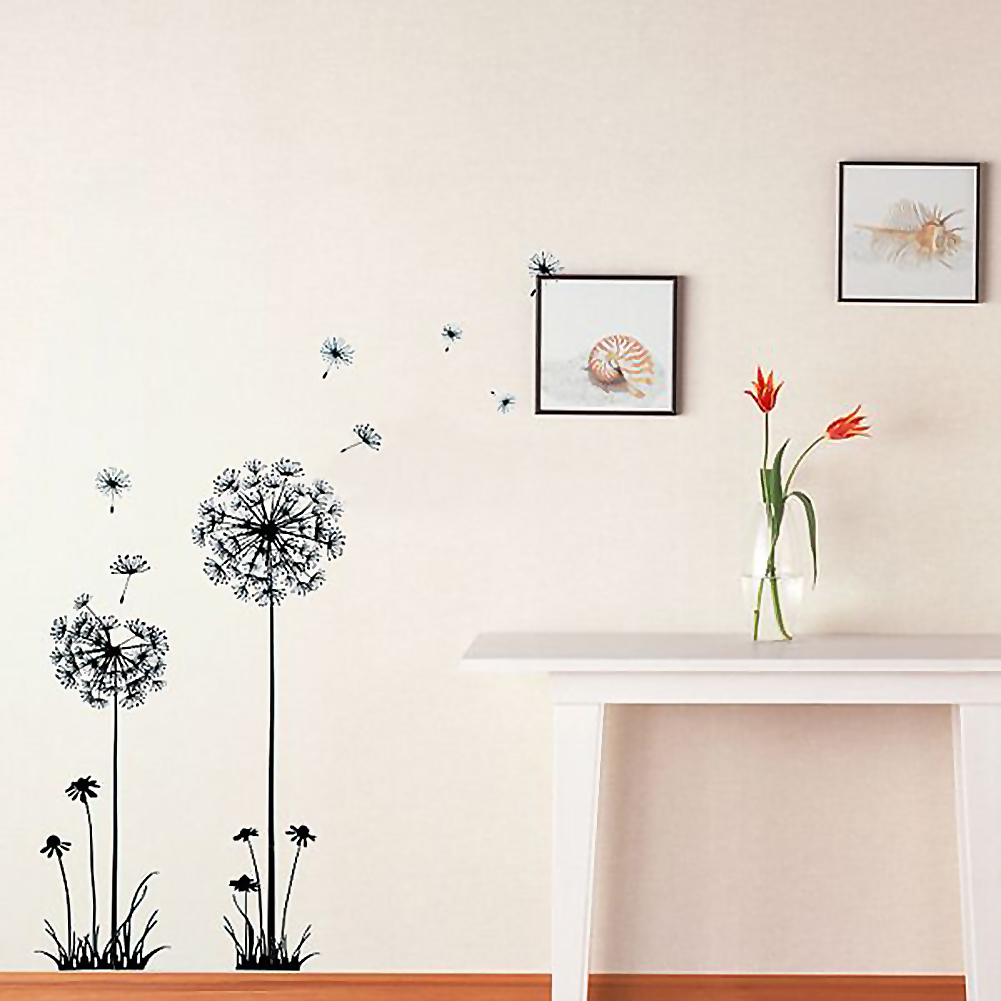 dandelion flower removable wall sticker decals mural art barreling wave surfing wall mural and removable sticker