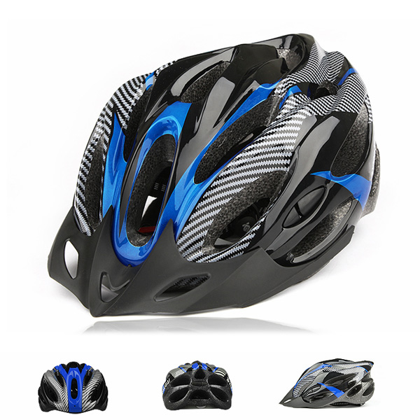 Cycling-Adult-Mens-Bike-Bicycle-Carbon-Helmet-with-Visor-21-Holes-Mountain-Road