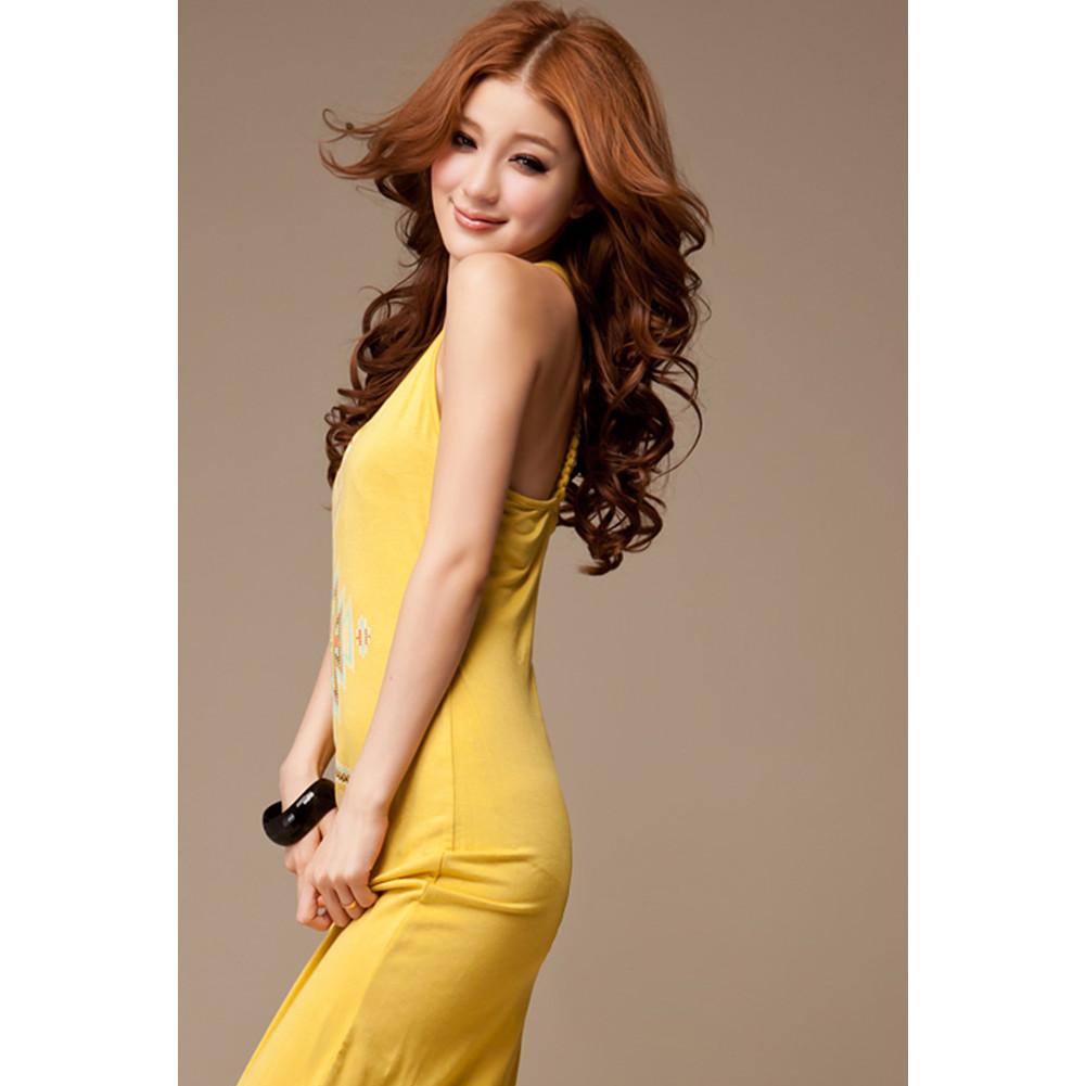 Sexy Women Ladies Girls Cotton Slim Floral Boho Summer Maxi Long Dress Skirts