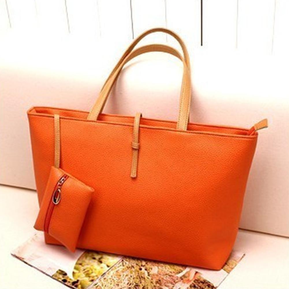 New Fashion Women's Classic Shoulder Bag Ladies Tote Bag PU leather Handbag Big