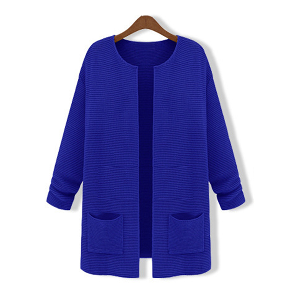 Fashion Loose Knit Long New Top Womens Cardigan Pattern Outwear Sweater Coat ...