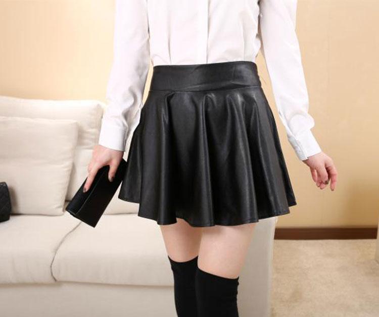 leather pleated mini skirt dress ala