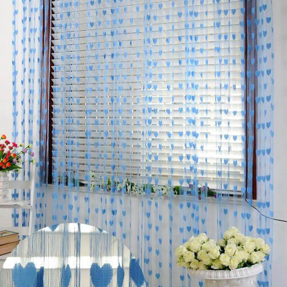 Heart-Line-Tassel-Curtain-Sheer-Window-Corridor-Home-Decoration-Vestibule