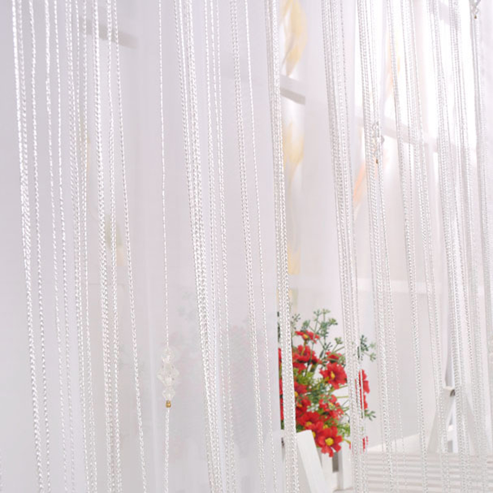 Decorative String Curtain W Crystal Beads Door Window Panel Room Divider Ebay