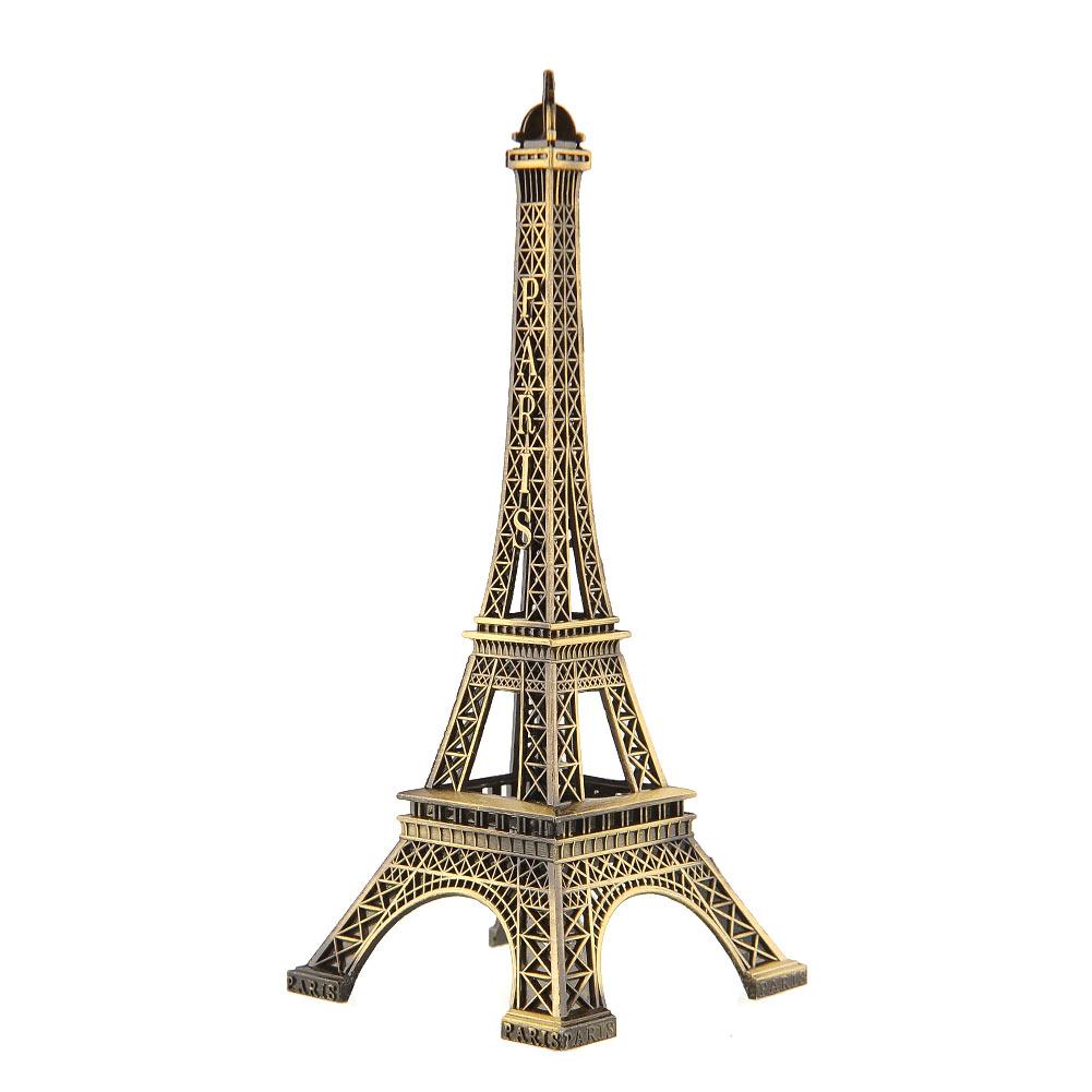Bronze Paris Eiffel Tower Antique Imitation Model Statue