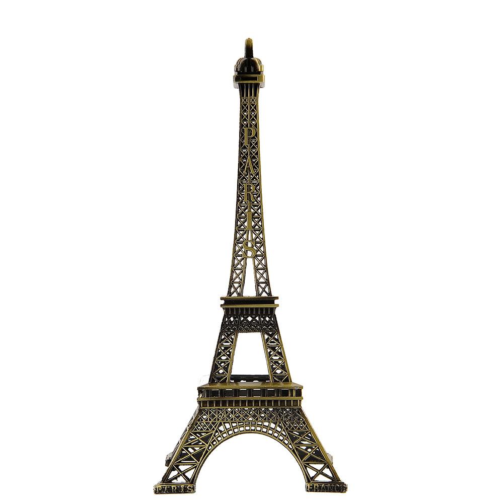 Bronze Tone Paris Eiffel Tower Figurine Antique Metal