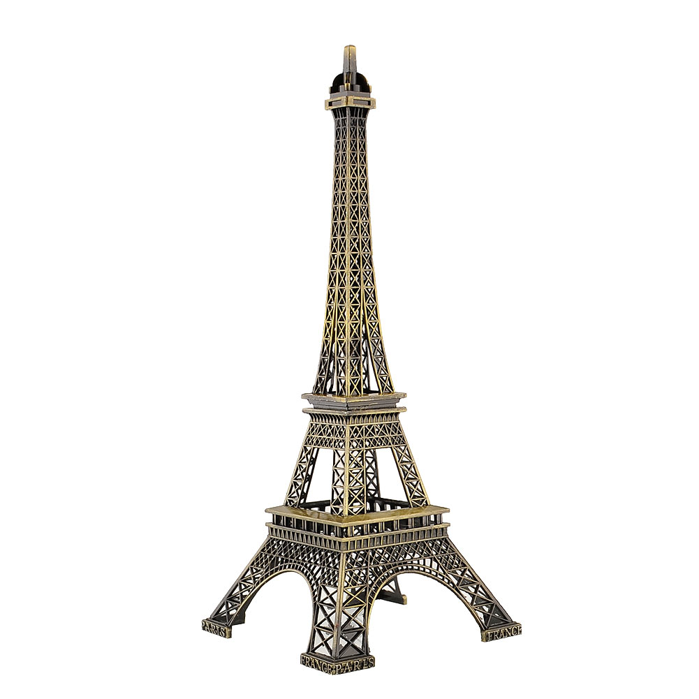30cm Bronze Vintage Paris Eiffel Tower Figurine Statue