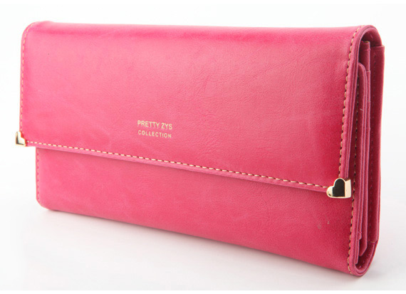 Womens Clutch Matte Leather Wallet Lady Card Purse Handbag Candy 7 Colors