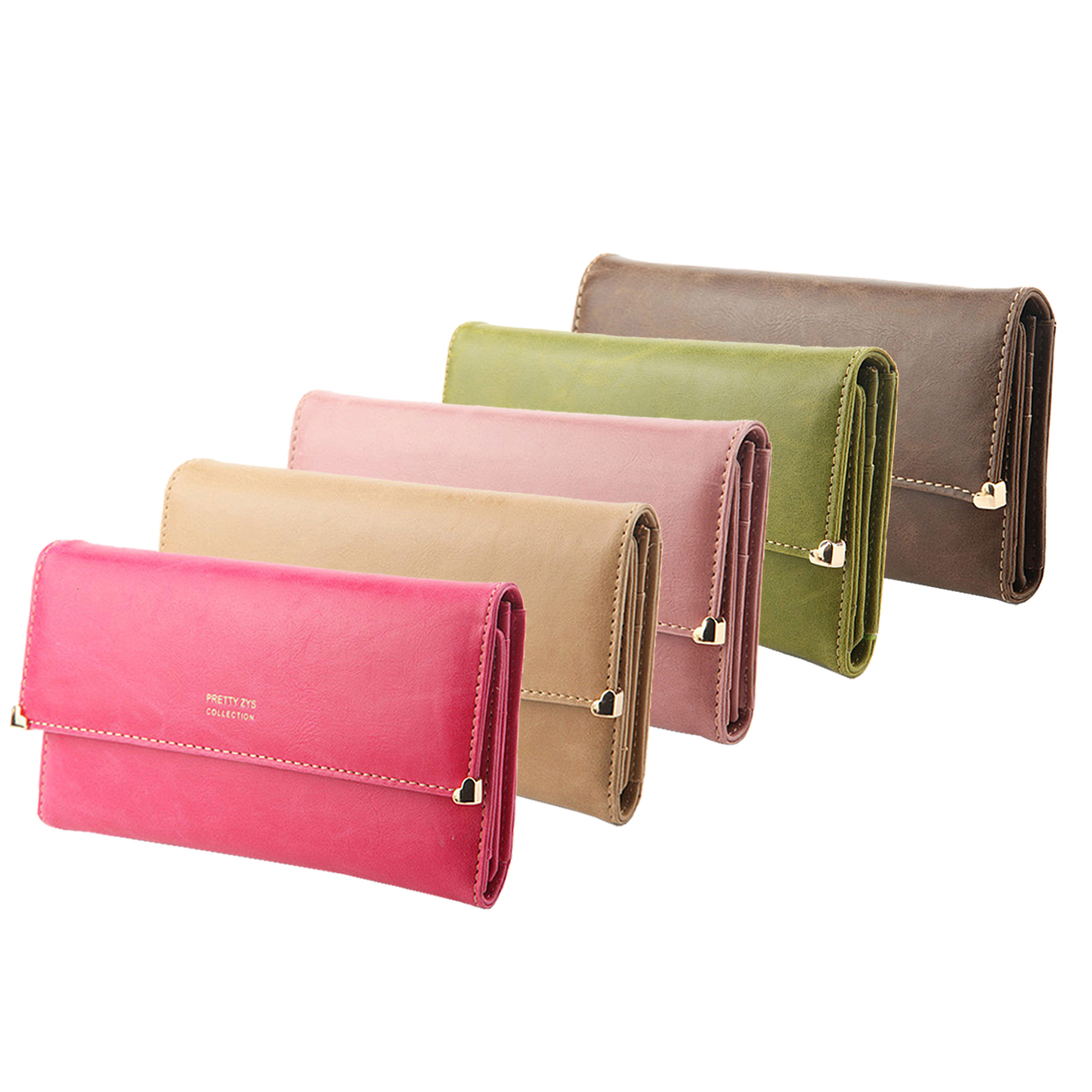 Womens-Clutch-Matte-Leather-Wallet-Lady-Card-Purse-Handbag-Candy-7-Colors