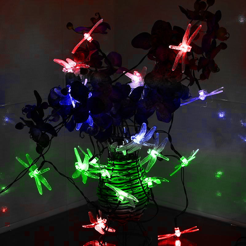 Solar-Powered-LED-Outdoor-Garden-String-Dragonfly-Light-Xmas-Christmas-Deco