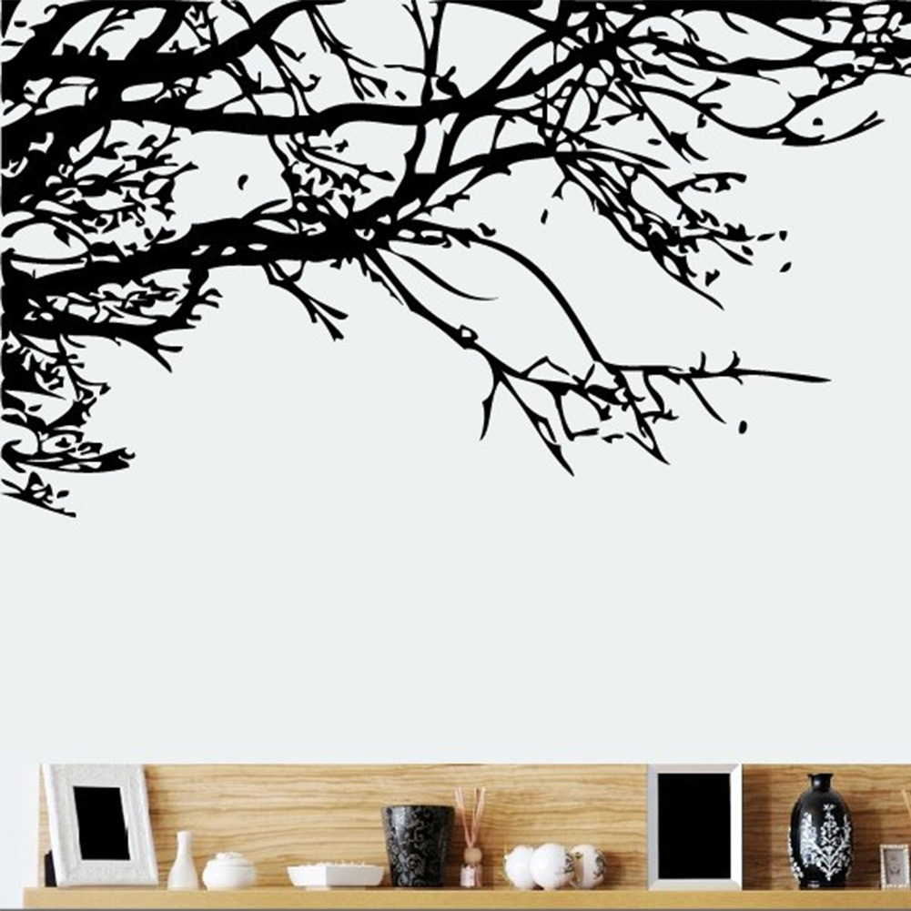Hot tree branch diy art vinyl wall stickers mural decal for Decor mural wall art