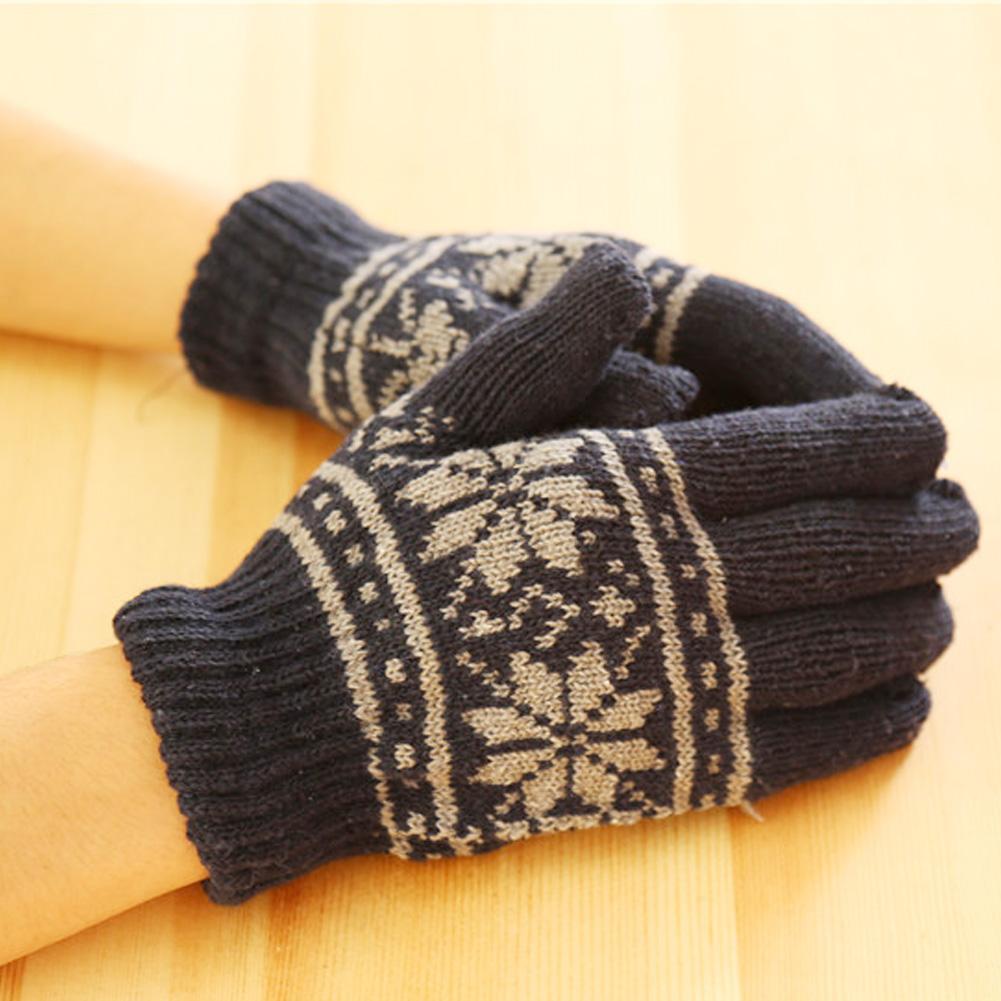 Fashion New Men Unisex Winter Wool Knit Wrist *Gloves