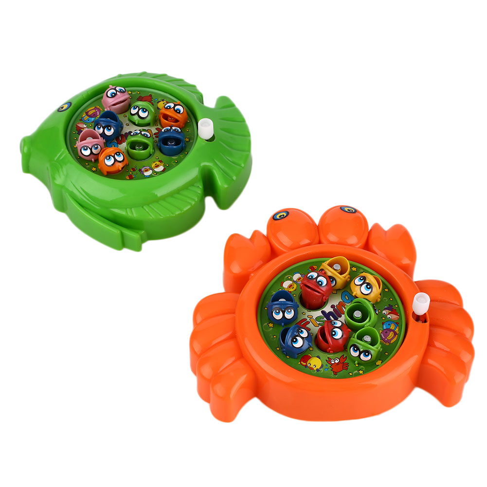 Hot child kid plastic magnetic fish game preschool toy set for Fishing toy set