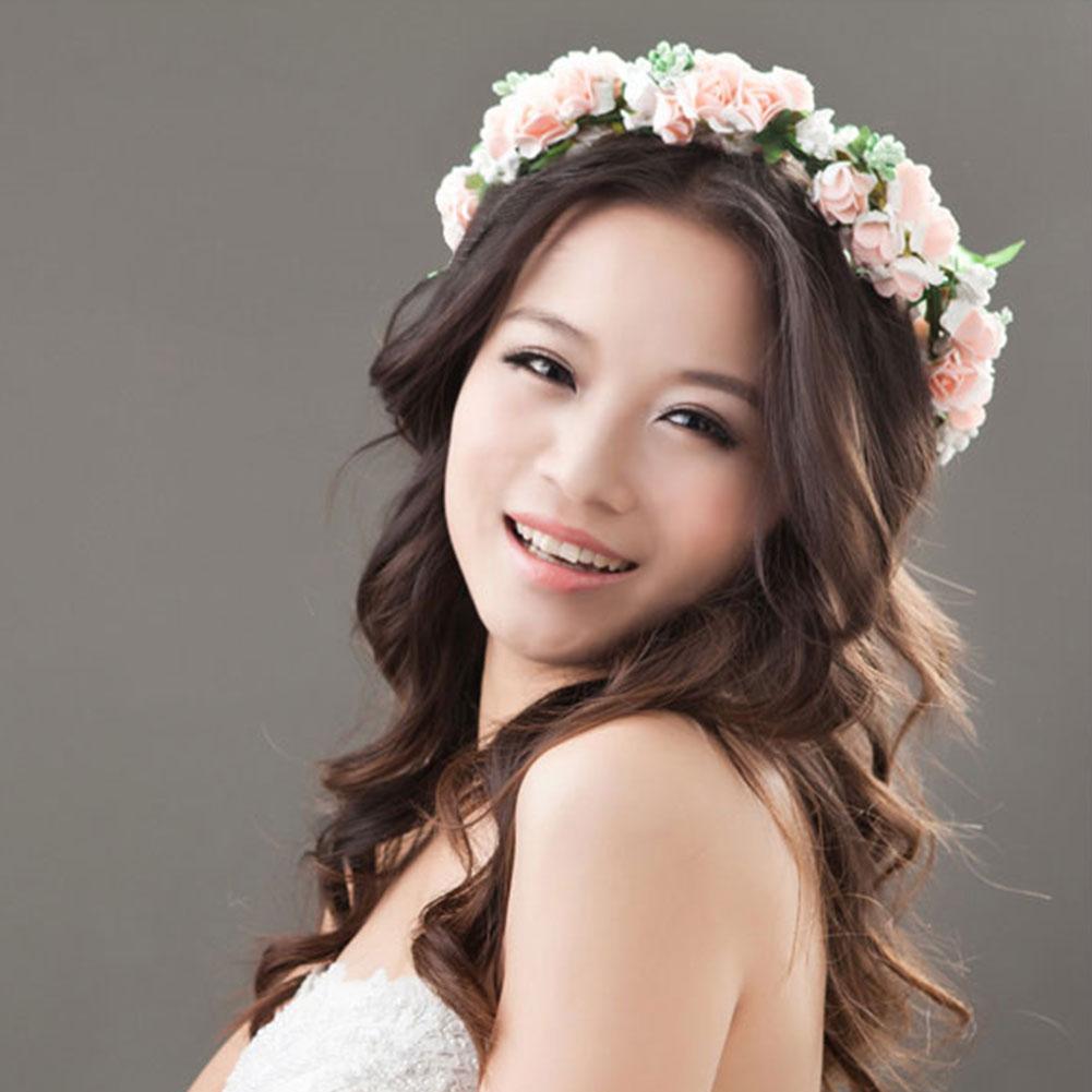 Flower Garland Floral Bridal Headband Hairband Wedding Prom Hair Accessories