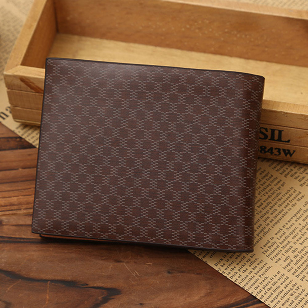 Stylish Fashion Mens PU Leather Wallet Zipper Clutch Center Bifold Purse