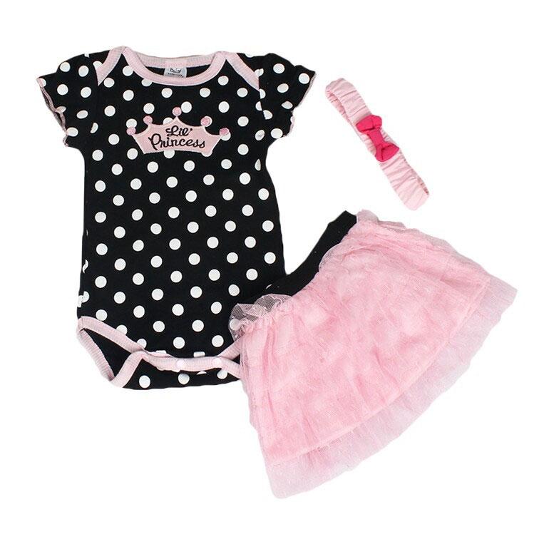 Brand New Cute Lovely Outfits Sets Girls Baby Newborn Clothes Pincess Skirt