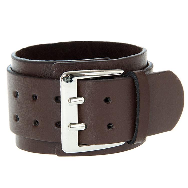 Black/Brown Leather Bracelet Wristband Bangle Braided Mulit Layer Hippy