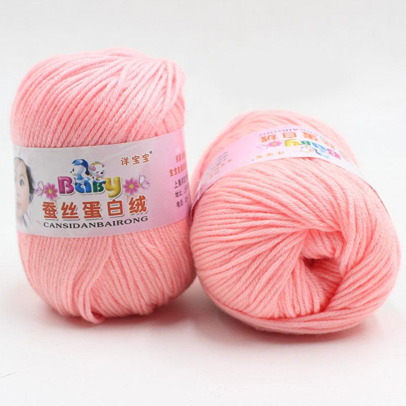 Pure Worsted Soft Warm Natural Silk Cashmere Baby Skein Knitting Woolen Yarn 50g