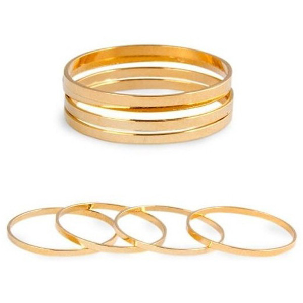 Cute Fashion 5PC/Set Bronze Ring Band Above Knuckle Mid Finger Little Finger