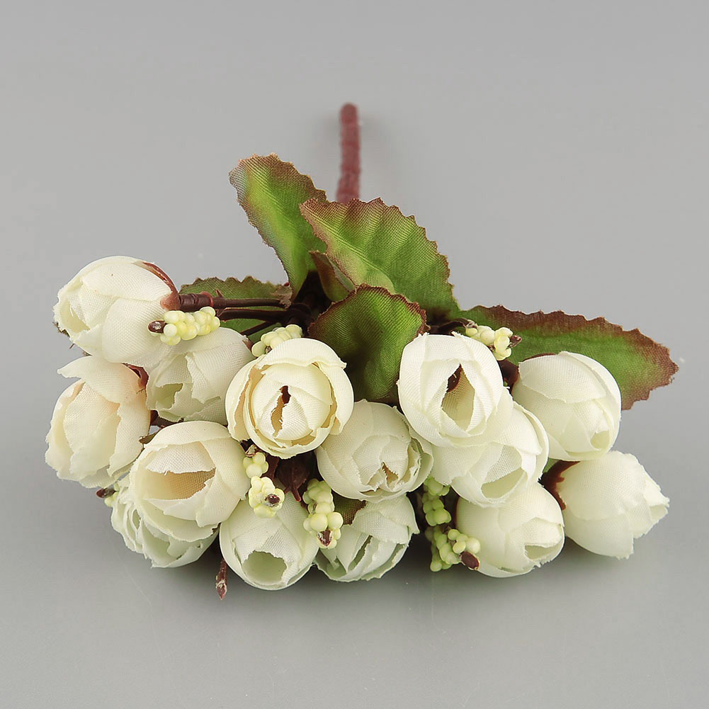 15pcs artificial flower bud silk wedding party home room New flower decoration