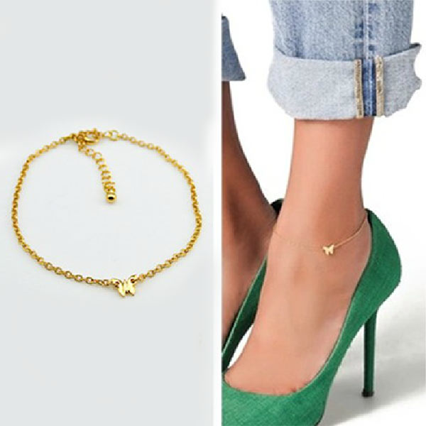 Simple Anklet Foot Chain Anklet Tassle Love Leave Crystal Ankle Bracelet Sandal