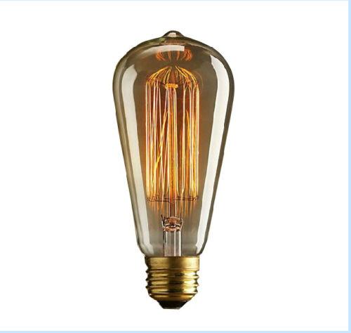 E27 40w Vintage Retro Filament Edison Tungsten Light Bulb: Edison Retro Tungsten Filament Industrial Light 220v/40w