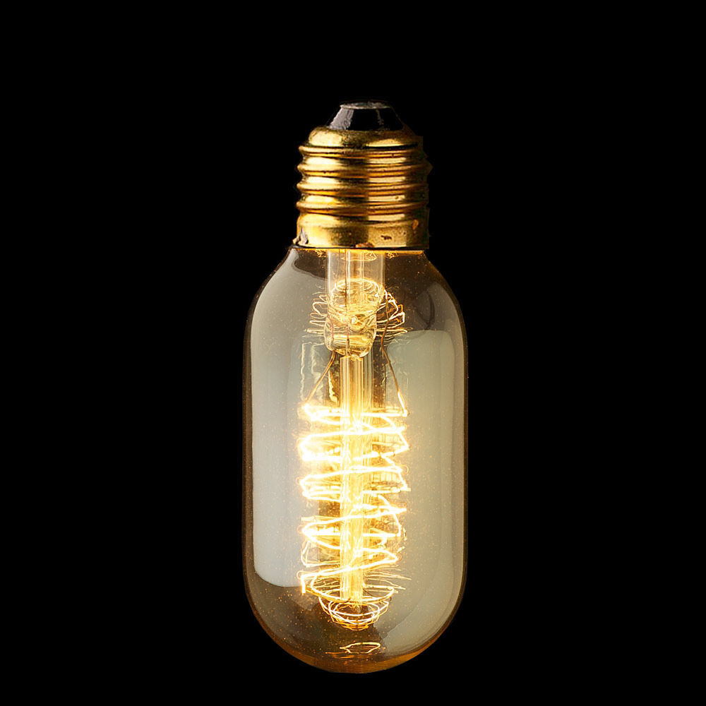 Edison retro tungsten filament industrial light 220v 40w bulb reproduction Tungsten light bulbs