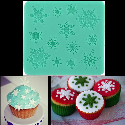 Christmas Xmas Fondant Cake Decorating Cutter Mold Baking ...