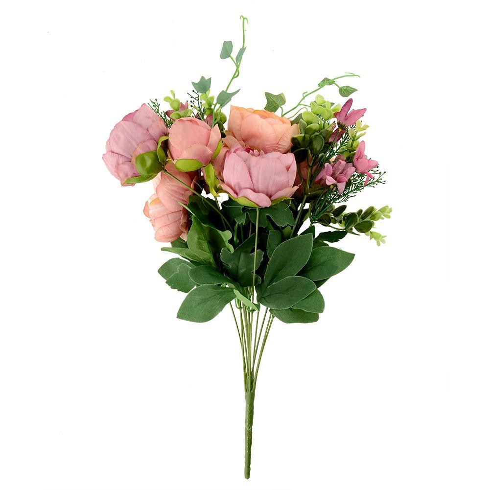 Artificial Peony Silk 12 Heads Flowers Bridal Hydrangea Wedding Decor
