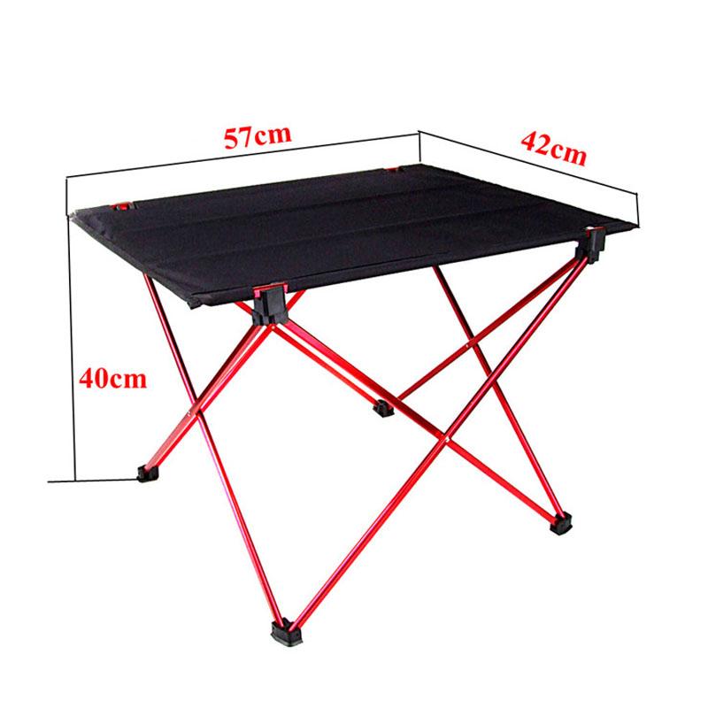 ... Portable Foldable Table Desk Home Camping Outdoor Picnic Aluminium
