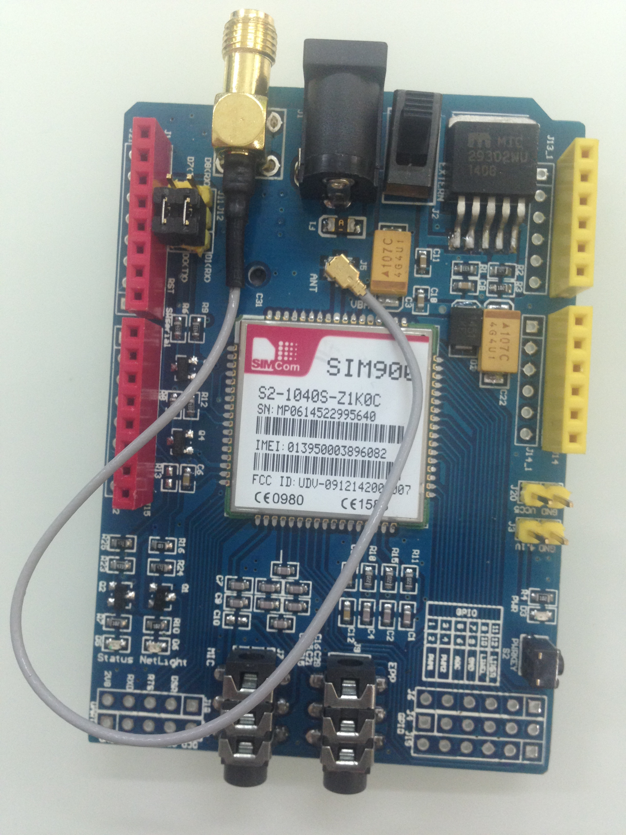 Sim gprs gsm shield board quad band module kit for