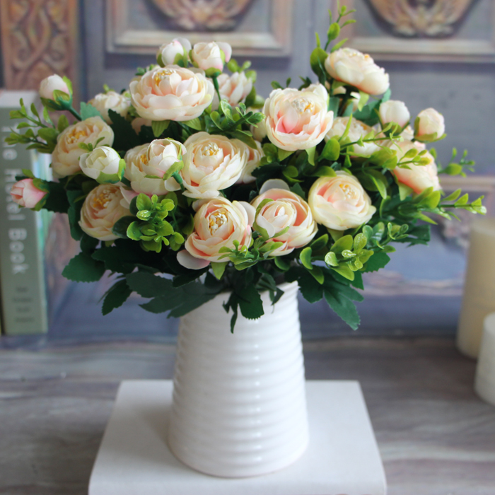 6 branches artificial fake peony flower arrangement home Artificial flower decoration for home