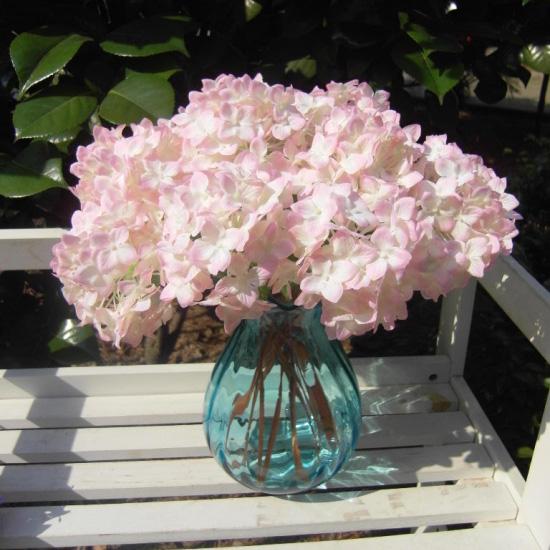 Hot Realistic Hydrangea Artificial Fake Flower Arrangement Home Hotel Decor