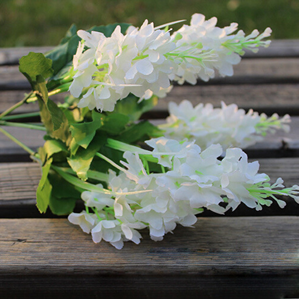 Hot New 5 Heads Artificial Fake Hyacinth Flower Bedroom Home Hotel Party Decor