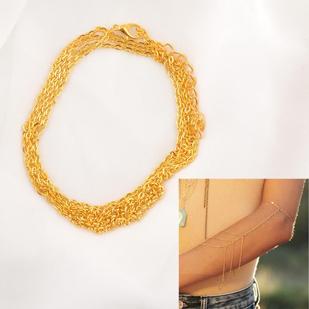 Arm Cuff Jewelry: Women Ladies Girls Arm Slave Harness Tassel Chain Cuff