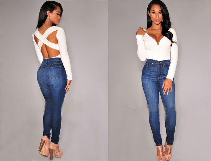 Women V-neck Tops Tee Long Sleeve Backless Slim T-shirt Casual Jumpsuit Hot