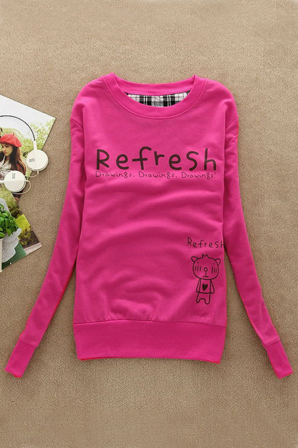 New Fashion Woman Sweater Sweet Pullover Jumper Hoodie Long Sleeve Warm Tops