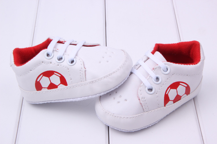 New Fashion Prewalker Football Lace Up Sneaker Lovely Comfy Breathable PU Shoes