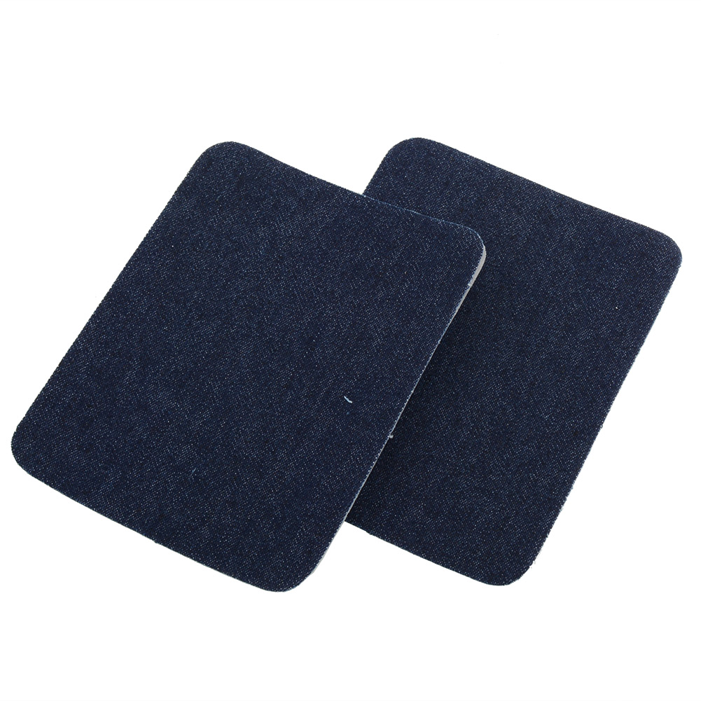 2PCS Iron On Jeans Patches Repairs Knee Patch Sewing Cloth Fabric Cowboy DIY