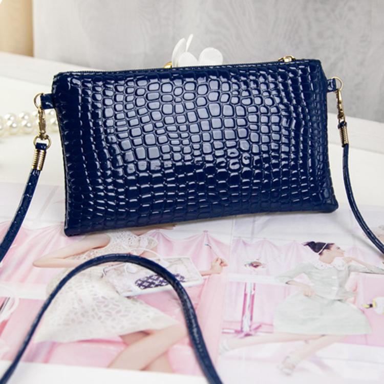Women PU Leather Hangbag Messenger Clutch Shoulder Bags Purse Wallet Zip Bag